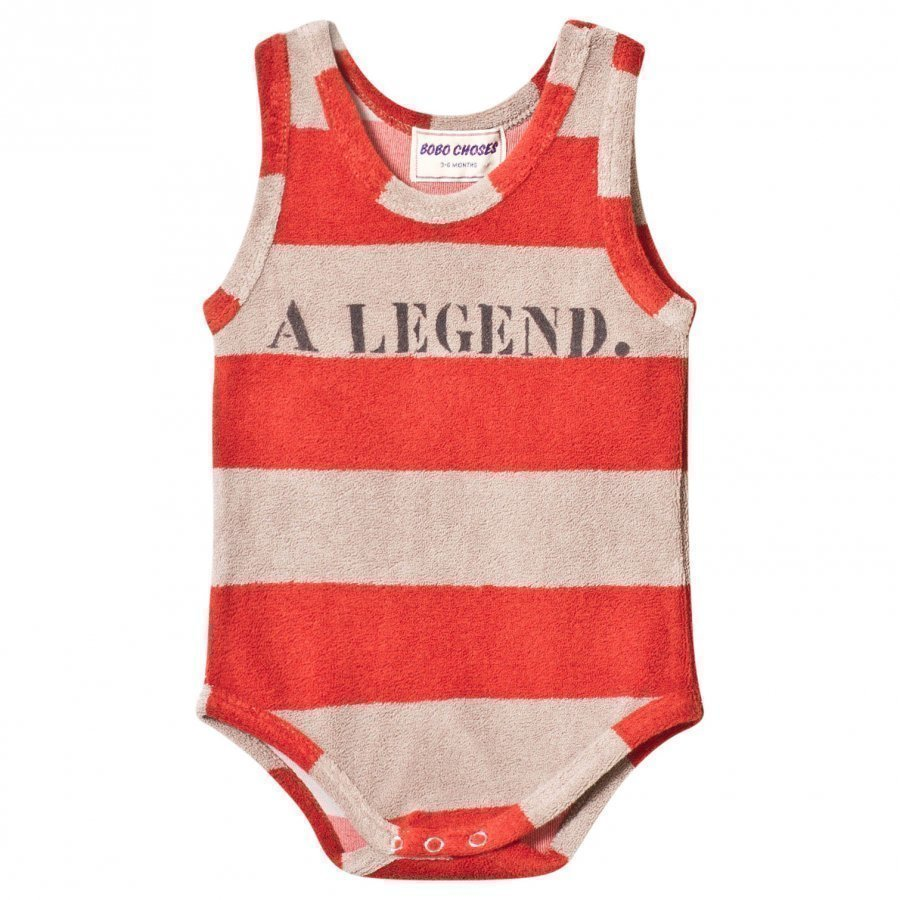Bobo Choses Striped Terry Body A Legend Red Clay Body