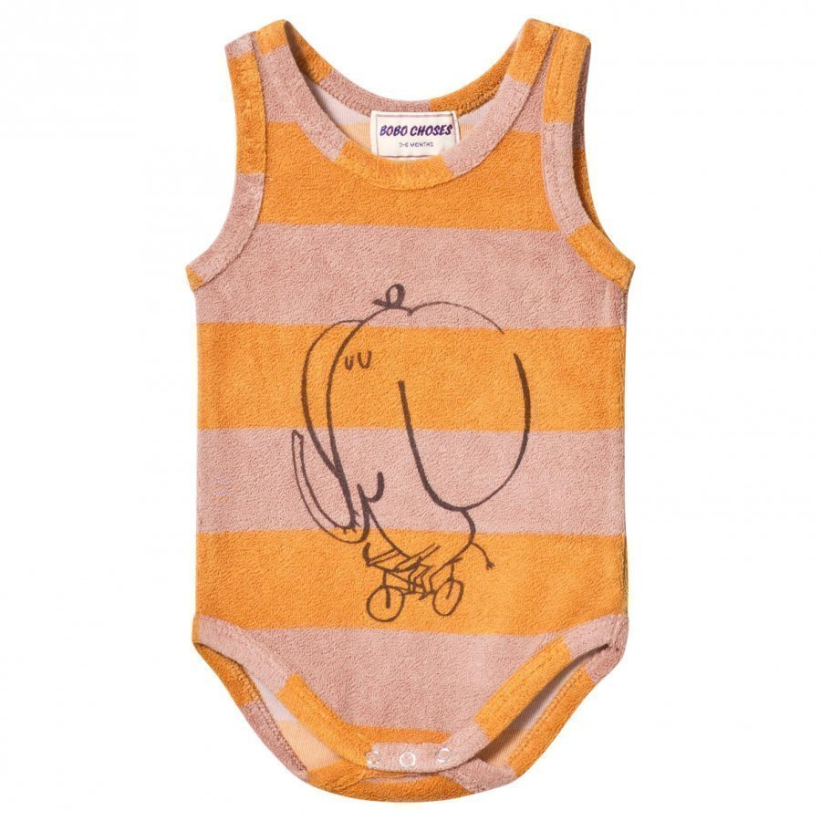 Bobo Choses Striped Terry Body The Cyclist Golden Nugget Body