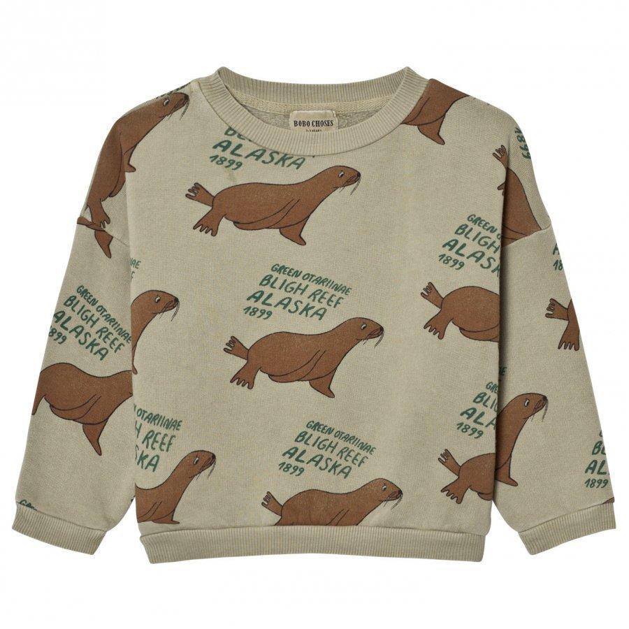 Bobo Choses Sweatshirt Green Otariinae Oloasun Paita