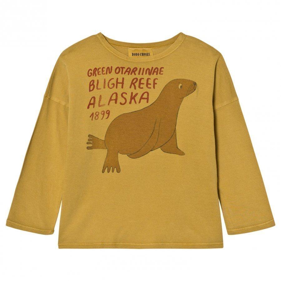 Bobo Choses T-Shirt Green Otariinae Pitkähihainen T-Paita