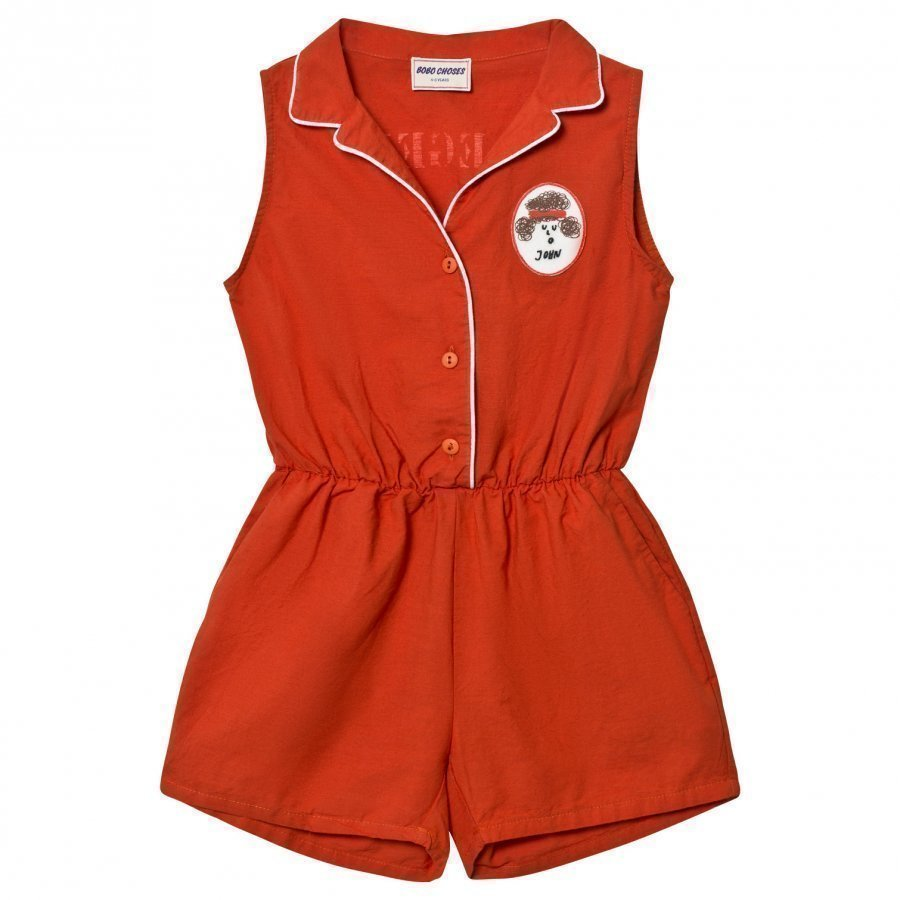 Bobo Choses Tailor Romper Red Clay Potkupuku