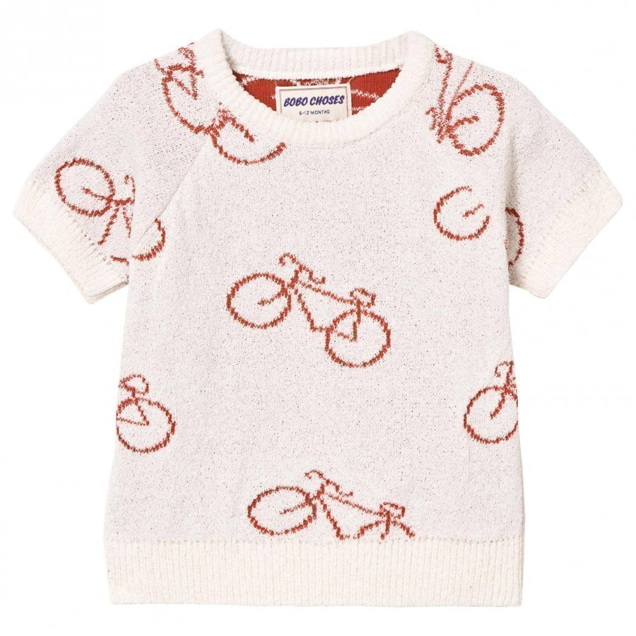 Bobo Choses The Cyclist Baby Knit Sweater Off White Paita