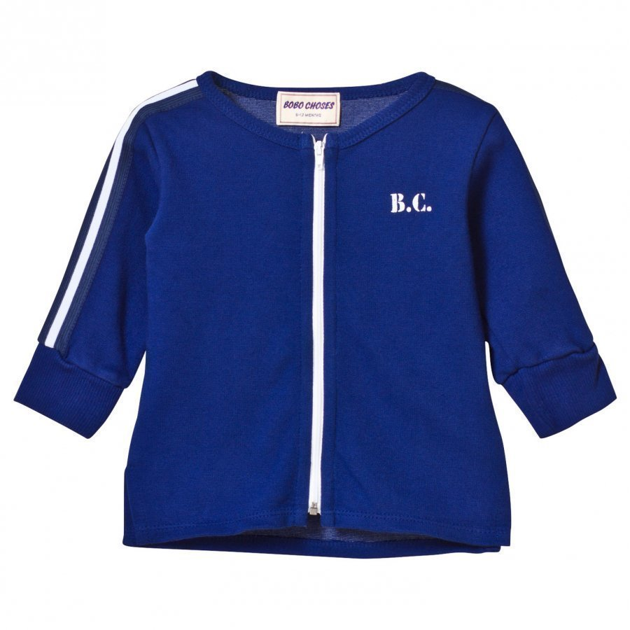 Bobo Choses The Cyclist Baby Zip Sweatshirt Mazarine Blue Oloasun Paita