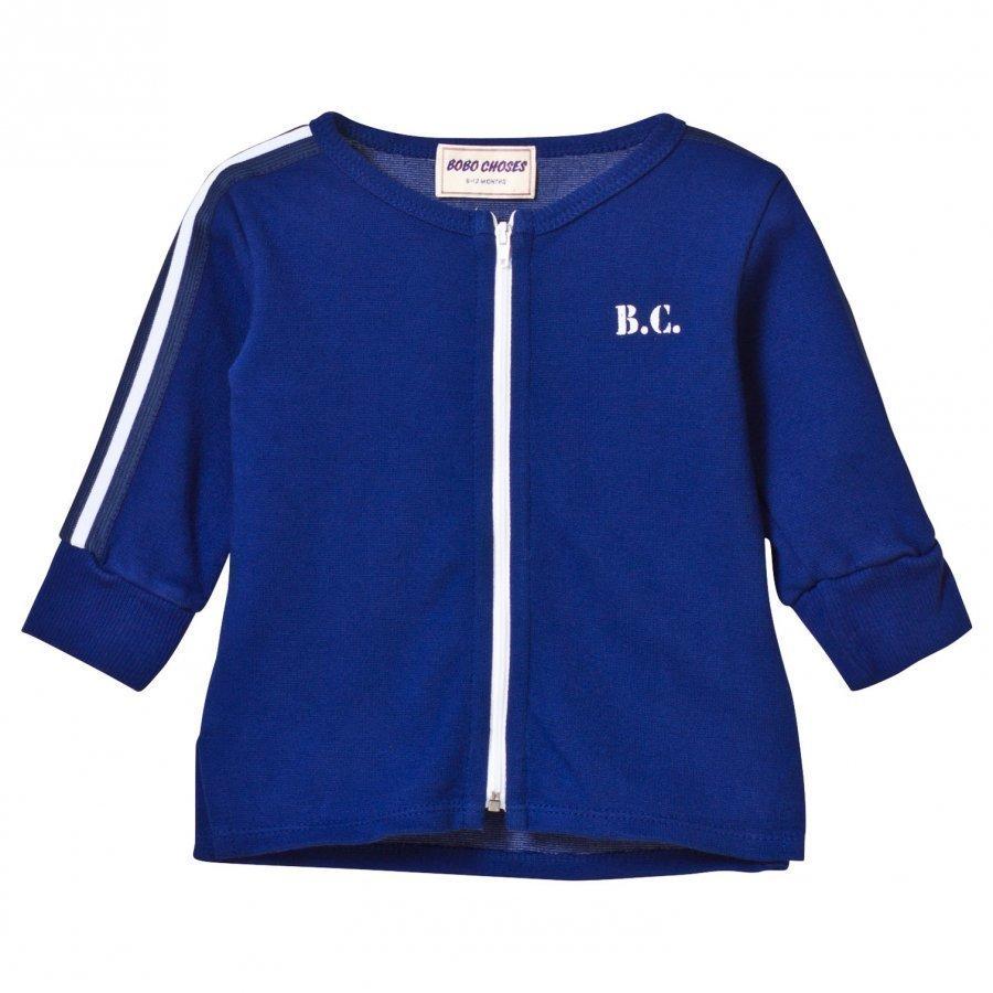 Bobo Choses The Cyclist Baby Zip Sweatshirt Mazarine Blue Oloasun Paita