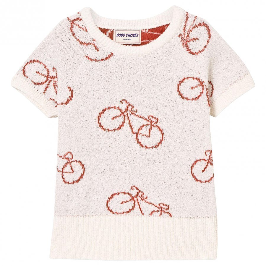 Bobo Choses The Cyclist Knit Sweater Off White Paita
