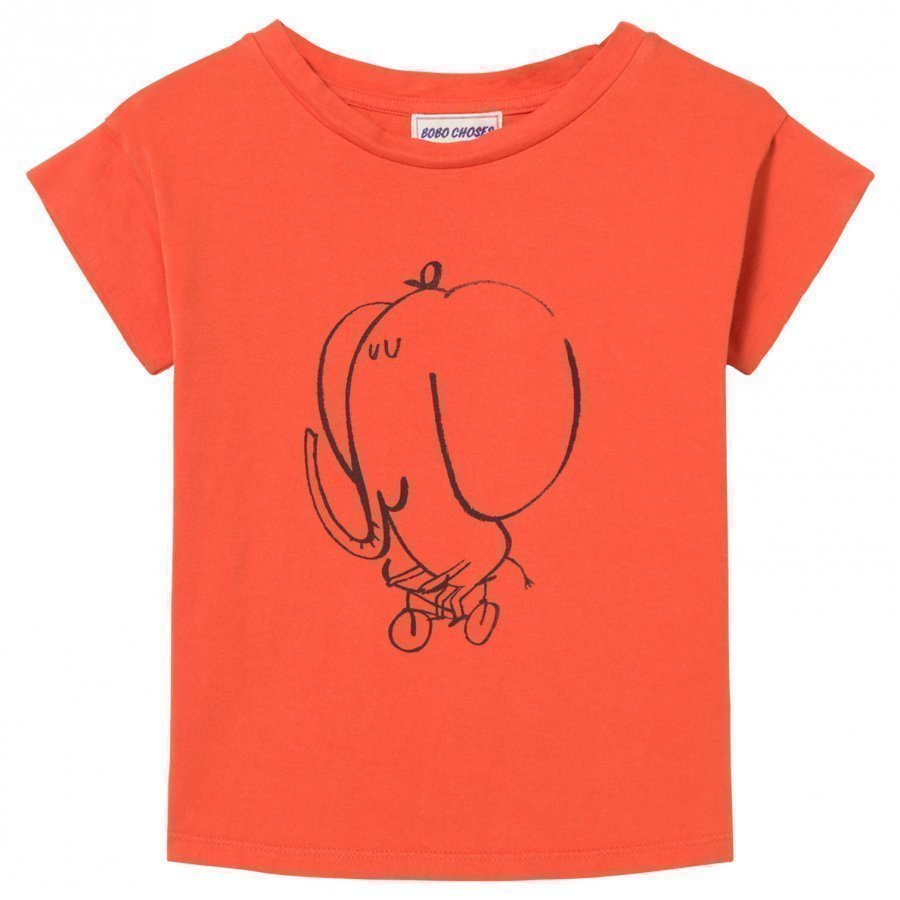 Bobo Choses The Cyclist T-Shirt Red Clay T-Paita