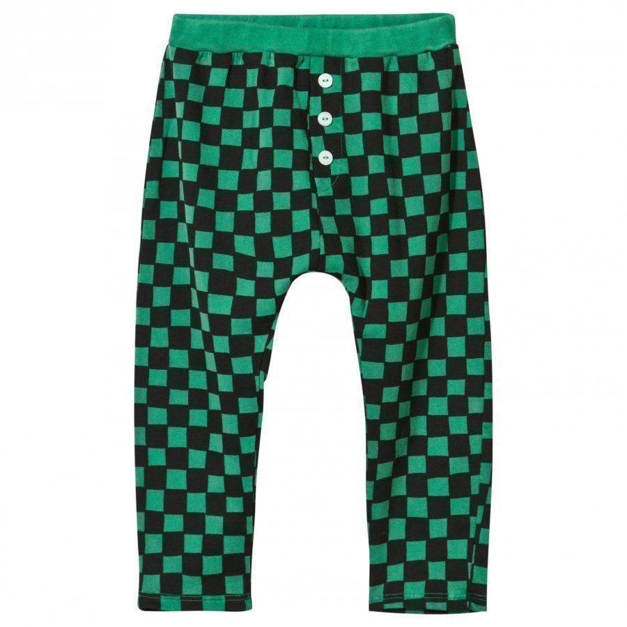 Bobo Choses Tracksuit Housut Checked Deep Green Verryttelyhousut