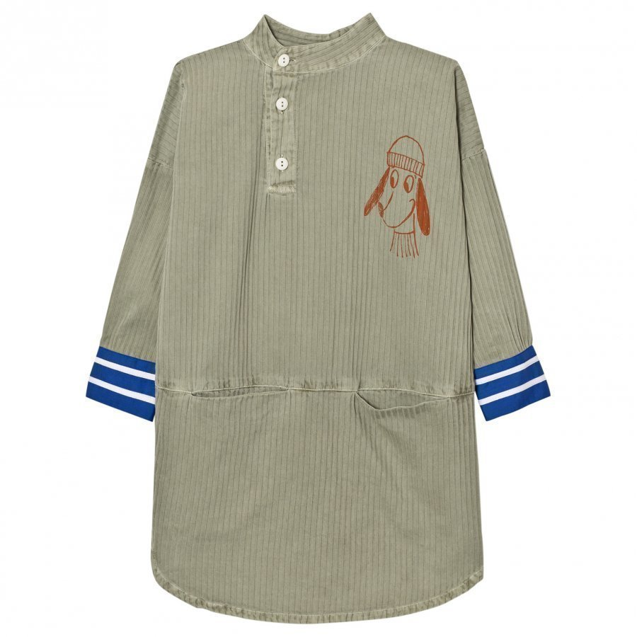 Bobo Choses Tunic Dress Loup Embroidery Mekko