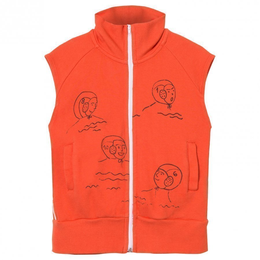 Bobo Choses Waterpolo Zip Vest Red Clay Oloasun Paita