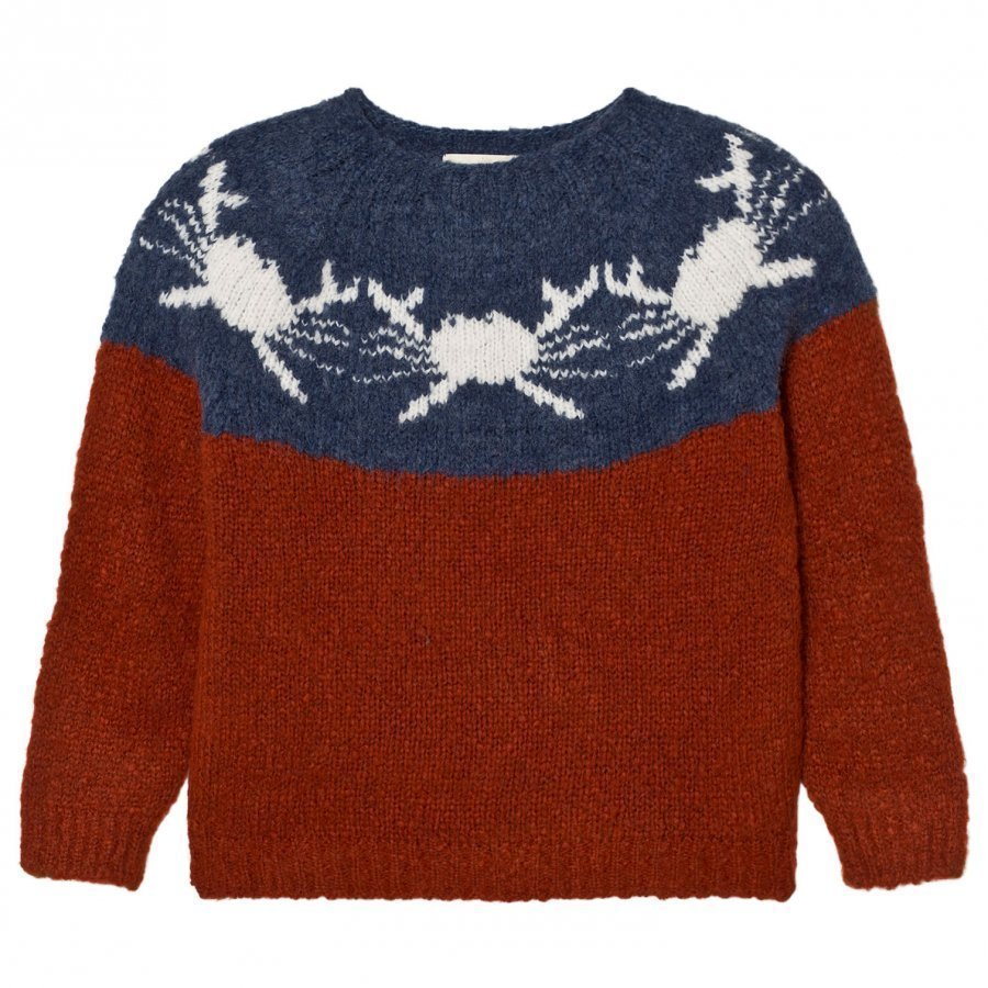 Bobo Choses Yoke Knitted Sweater Crabs Paita