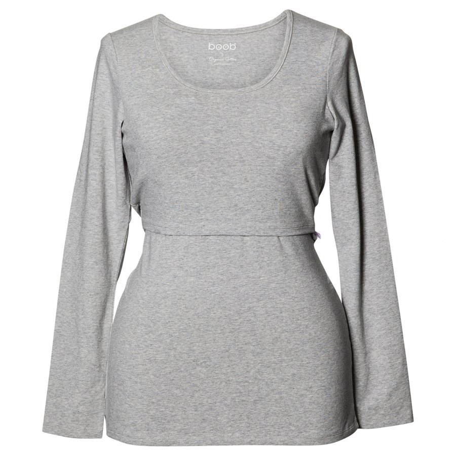 Boob Classic Top Long Sleeve Grey Melange Pitkähihainen Äidille