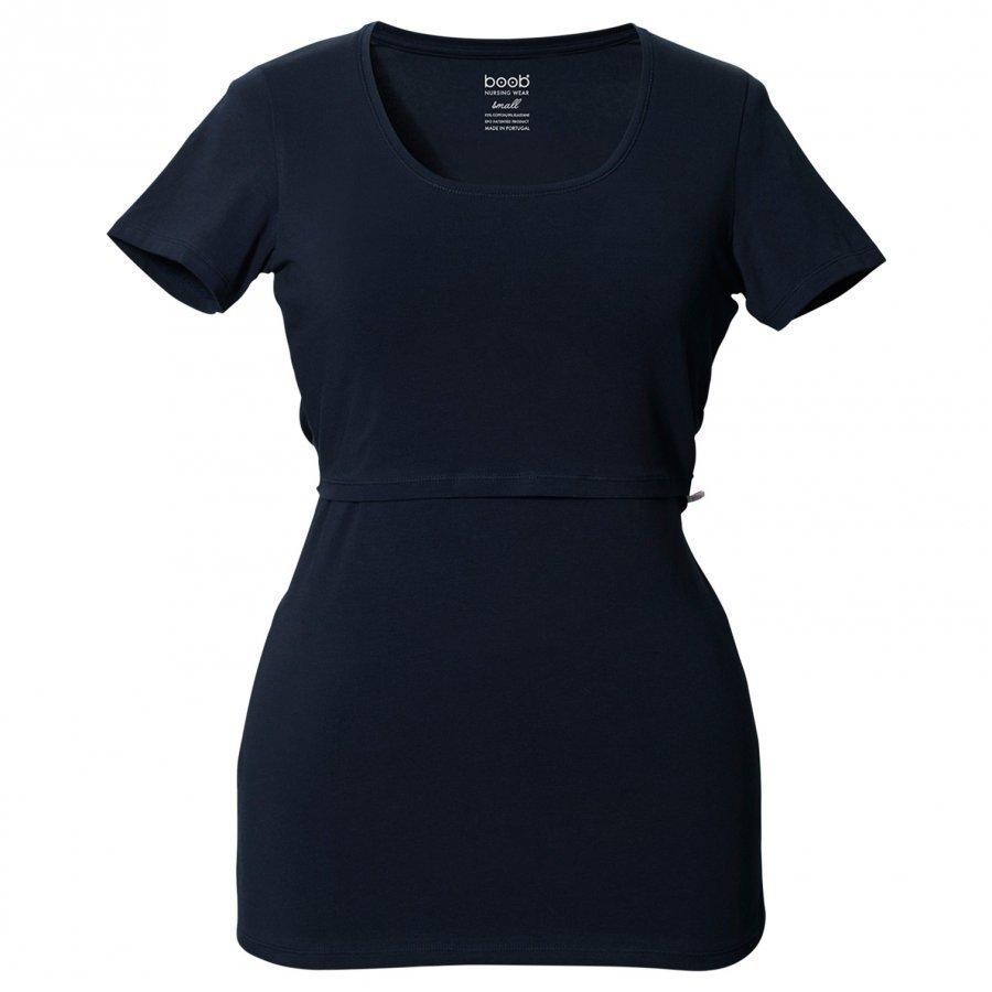 Boob Classic Top Short Sleeve Midnight Blue T-Paita Äidille