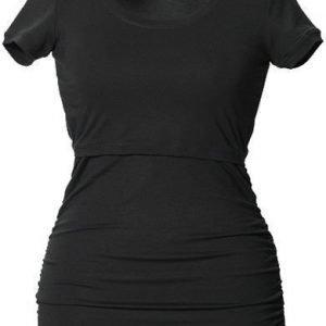 Boob Imetyspusero Ruched Top Short Sleeve Black