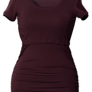 Boob Imetyspusero Ruched Top Short Sleeve Burgundy red