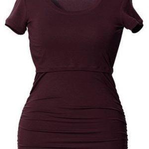 Boob Imetyspusero Ruched Top Short Sleeve Burgundy red