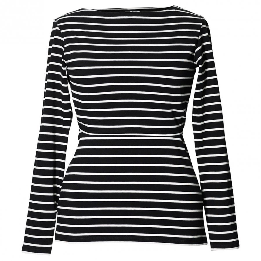 Boob Simone Top Long Sleeve Stripe Sailor Black/Pearl T-Paita Äidille