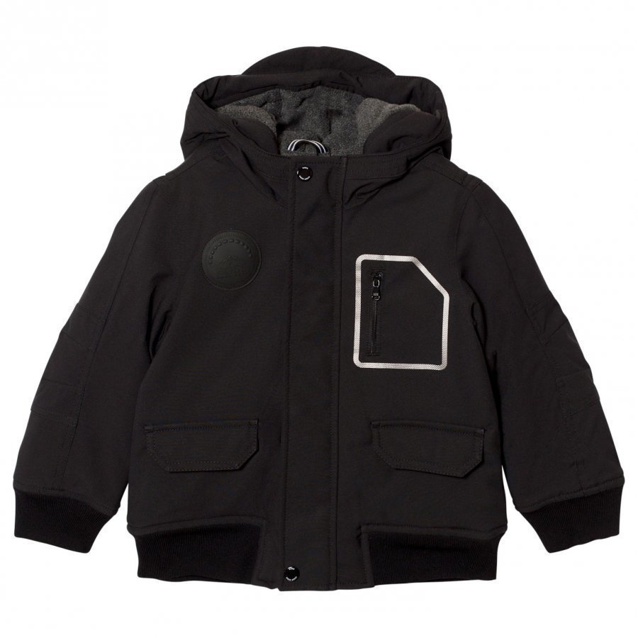 Boss Black Fleece Lined Hooded Parka Parkatakki