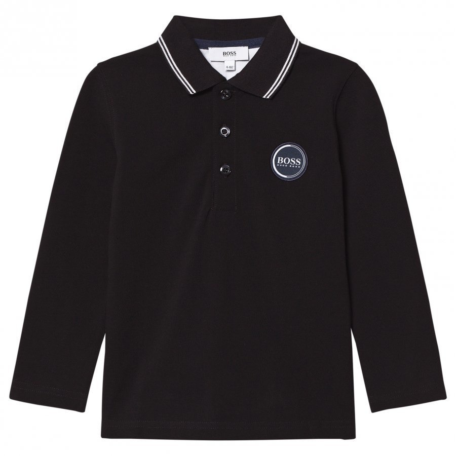 Boss Black Long Sleeve Branded Polo Pitkähihainen T-Paita