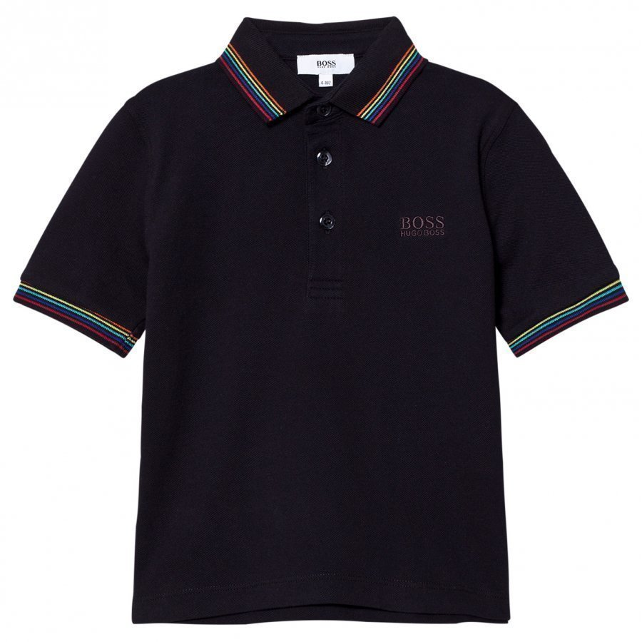 Boss Black Polo Multi Color Collar T-Paita