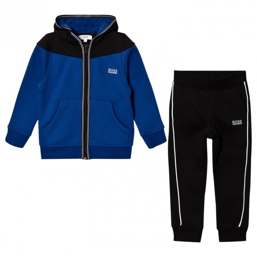 Boss Blue And Black Branded Tracksuit Verryttelyasu