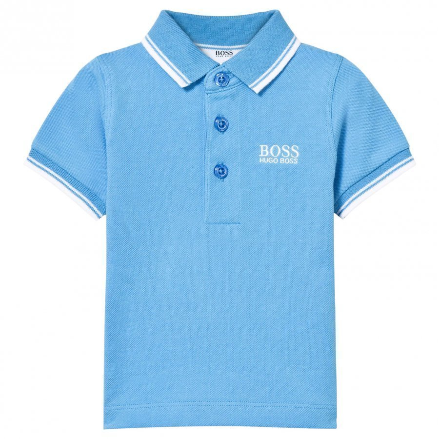 Boss Blue Classic Branded Polo Pikeepaita