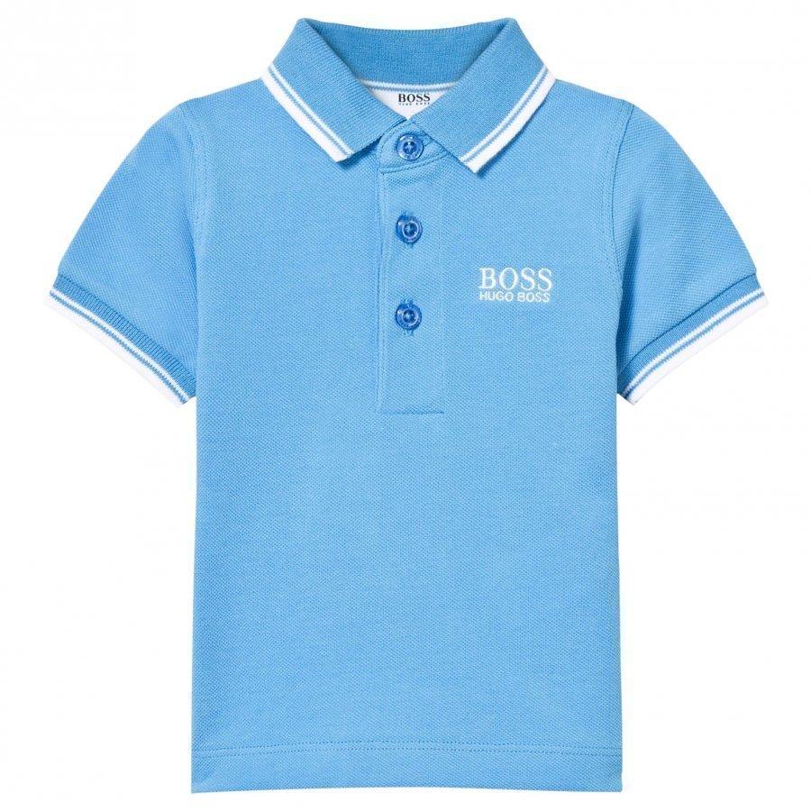 Boss Blue Classic Branded Polo Pikeepaita