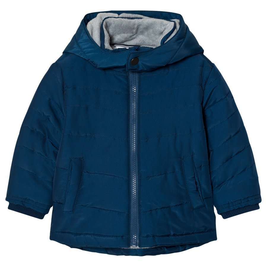 Boss Blue Padded Puffer Coat Toppatakki
