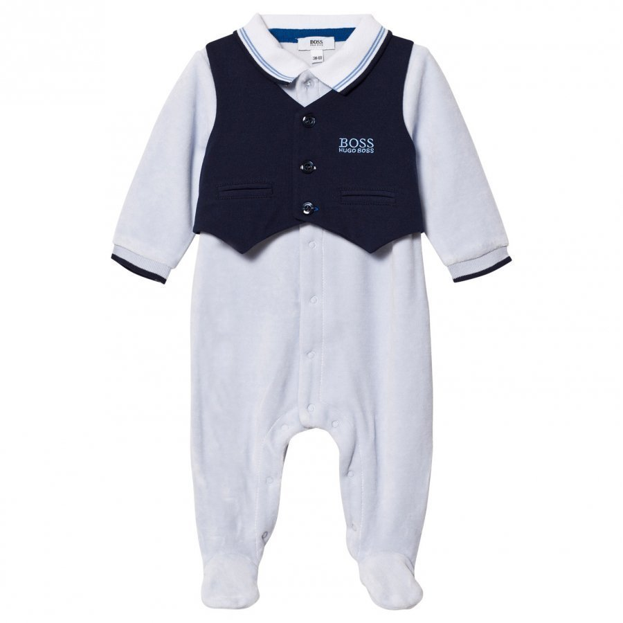 Boss Footed Baby Body Branded Outfit Pale Blue Body
