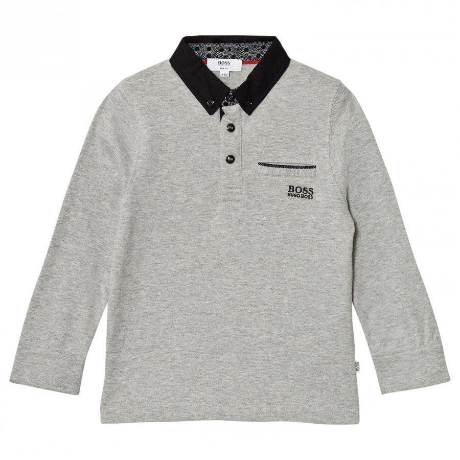 Boss Grey And Blank Long Sleeve Tee Pitkähihainen T-Paita