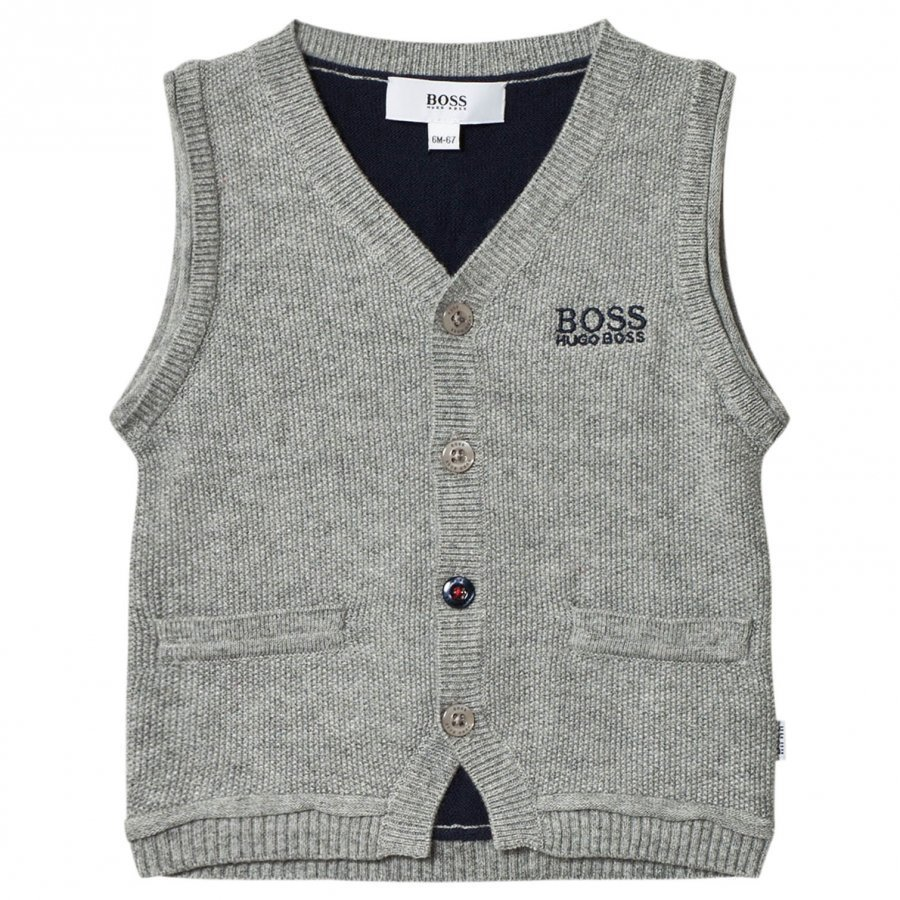Boss Grey And Navy Knit Vest Liivi