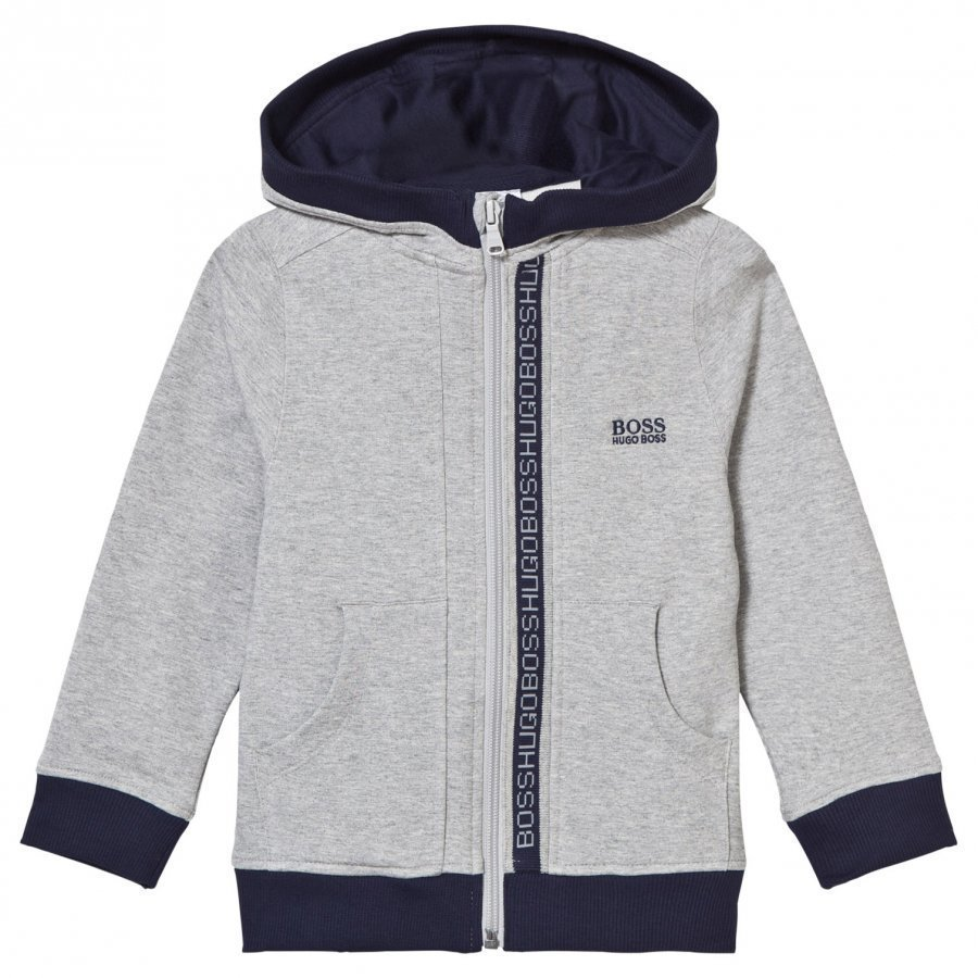 Boss Grey Branded Hoody Huppari