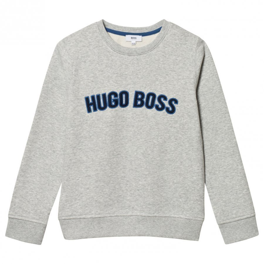Boss Grey Embroidered Branded Sweatshirt Oloasun Paita