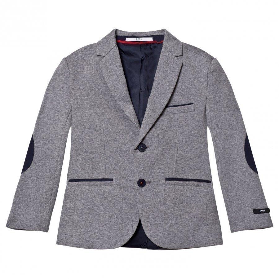 Boss Grey Marl Jersey Blazer Bleiseri