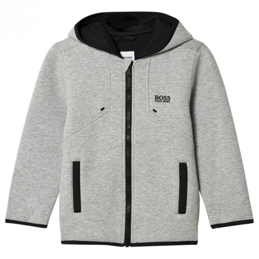 Boss Grey Marl Neoprene Hooded Jacket Huppari