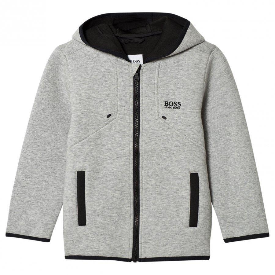 Boss Grey Marl Neoprene Hooded Jacket Huppari