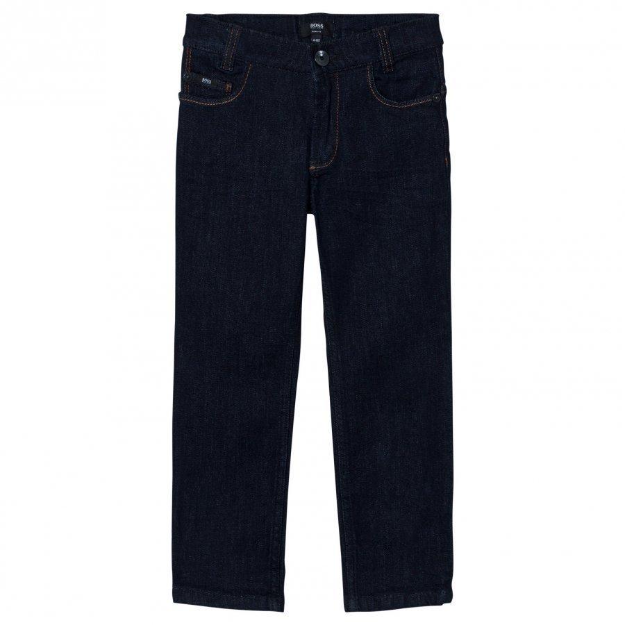 Boss Indigo Dark Wash Slim Fit Jeans Farkut