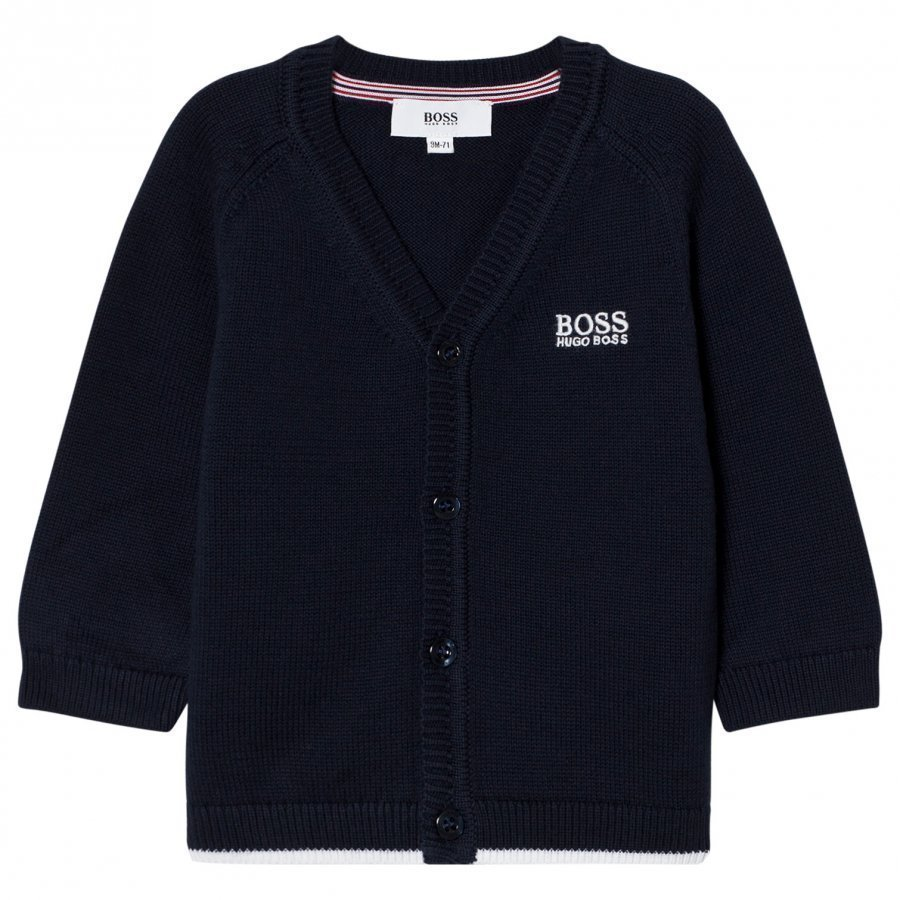 Boss Knit Cardigan Navy Neuletakki