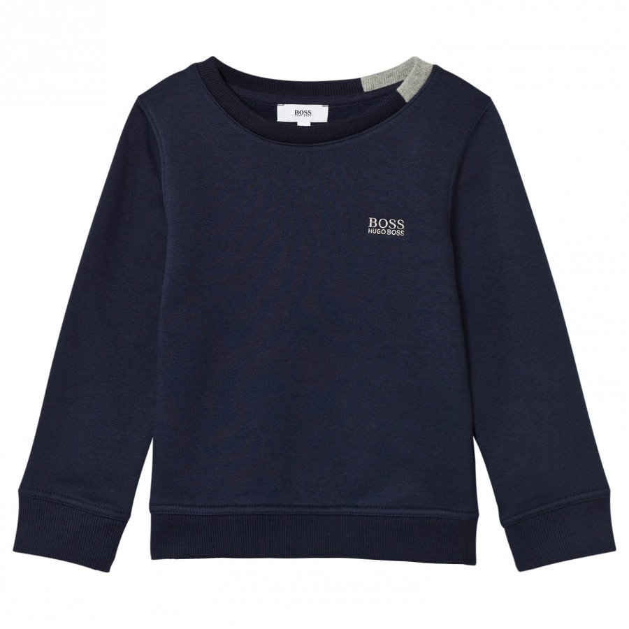 Boss Navy Branded Sweatshirt Oloasun Paita