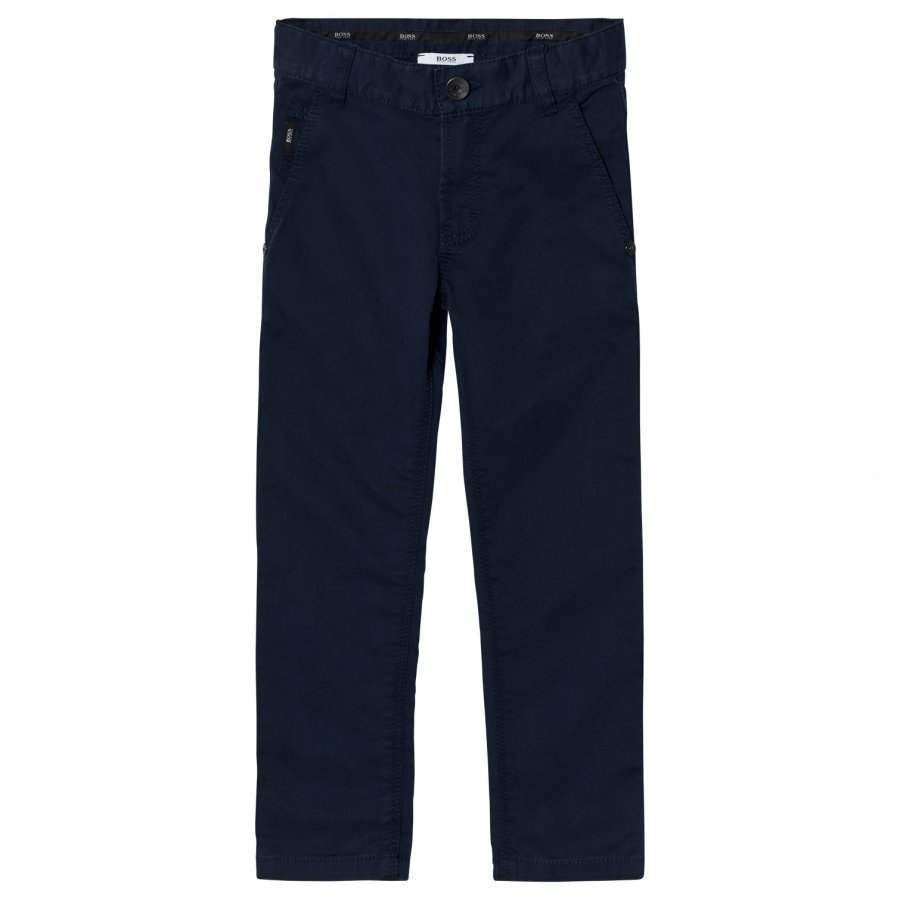Boss Navy Chino Trousers Chinos Housut