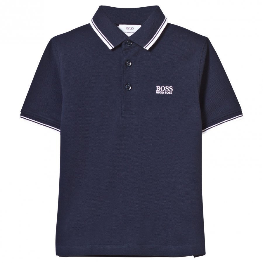 Boss Navy Classic Branded Polo Pikeepaita