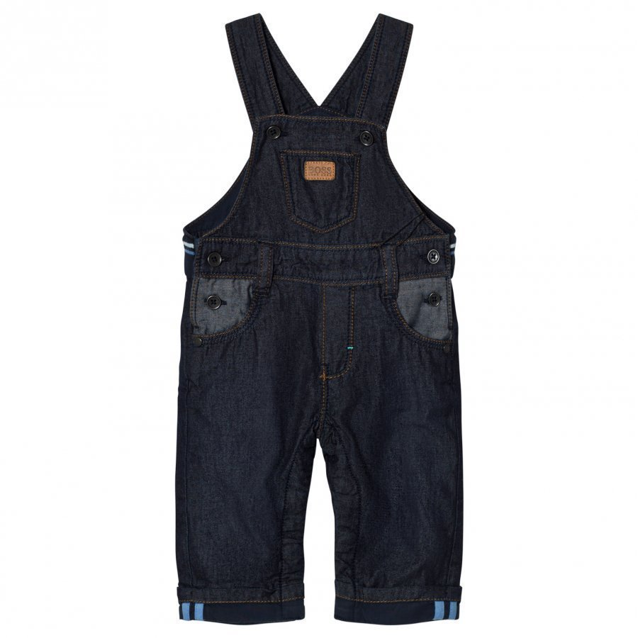 Boss Navy Denim Overalls Lappuhaalari