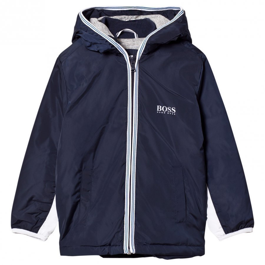 Boss Navy Hooded Windbreaker Tuulitakki