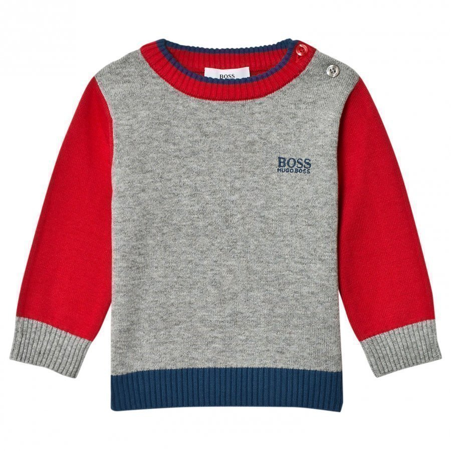 Boss Red And Grey Knit Sweater Paita