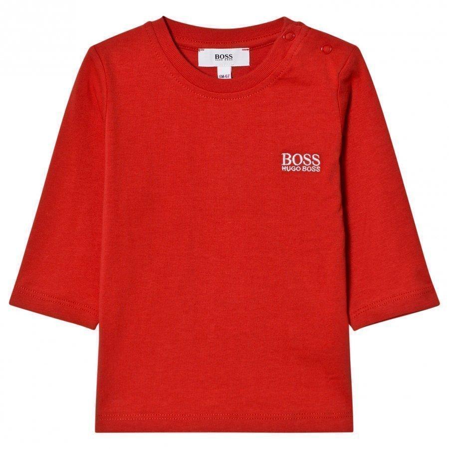 Boss Red Branded Long Sleeve Tee Pitkähihainen T-Paita