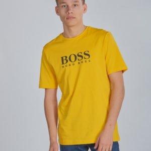 Boss Short Sleeves Tee Shirt T-Paita Keltainen