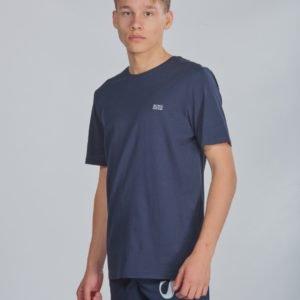 Boss Short Sleeves Tee Shirt T-Paita Sininen