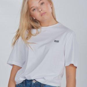 Boss Short Sleeves Tee Shirt T-Paita Valkoinen