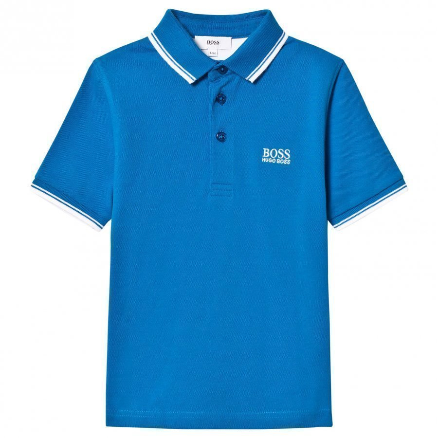 Boss Turquoise Branded Polo T-Paita