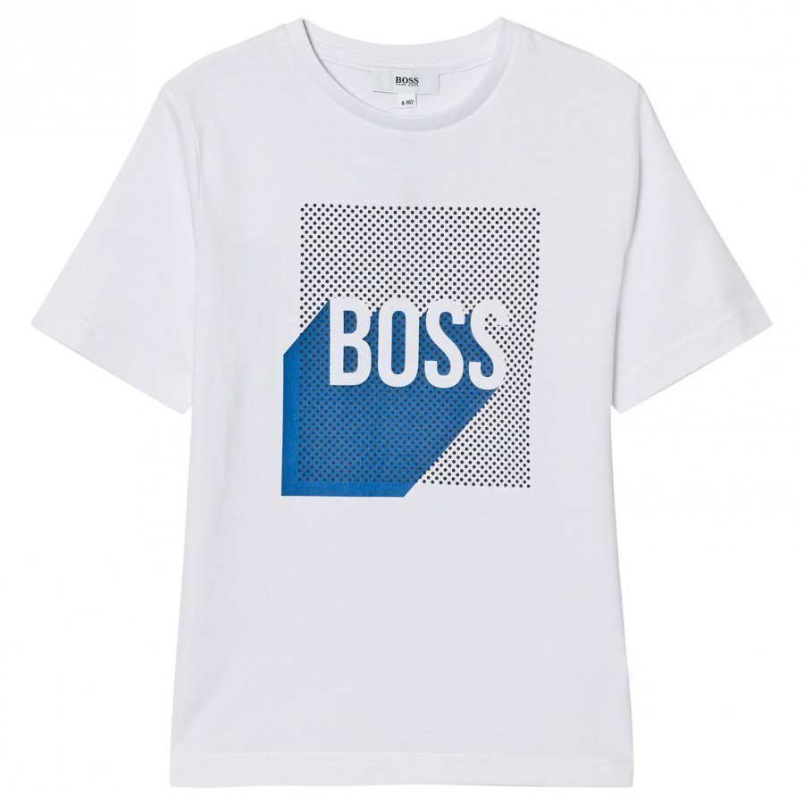 Boss White Branded Graphic Tee T-Paita