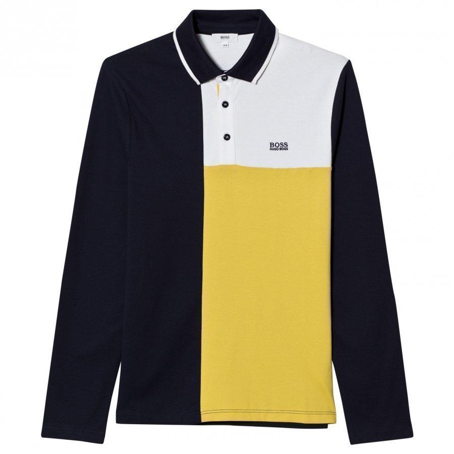Boss Yellow Paneled Polo Pitkähihainen T-Paita
